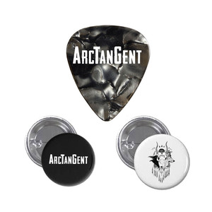 Pin Badges and Plectrum Set