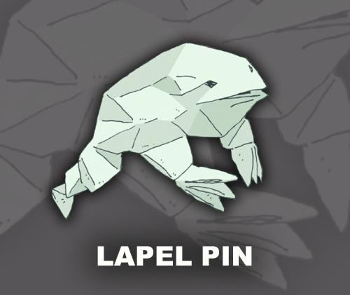 Copacetic Frog Lapel Pin