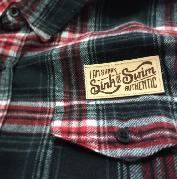 Sink or Swim Red/Black Flannel
