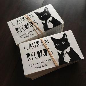Lauren Records - Cat Sticker