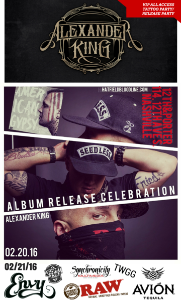 VIP Package- Album Release 02/20 + Tattoo Party 02/21