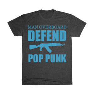 Defend Pop Punk - Blue/Charcoal T-Shirt