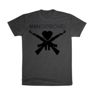 Charcoal Heart And Guns T-Shirt