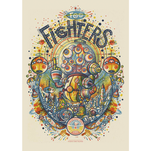 Poster for Foo Fighters cancelled Barcelona show.