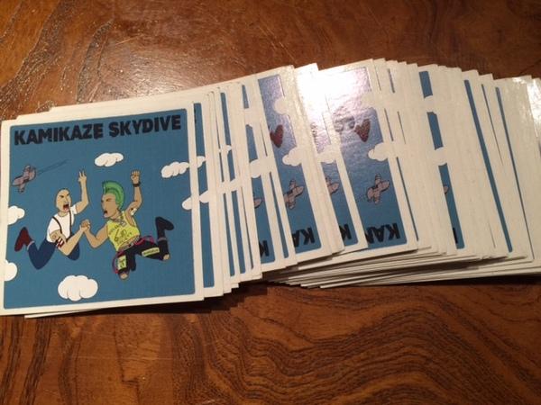 Kamikaze Skydive Sticker Pack