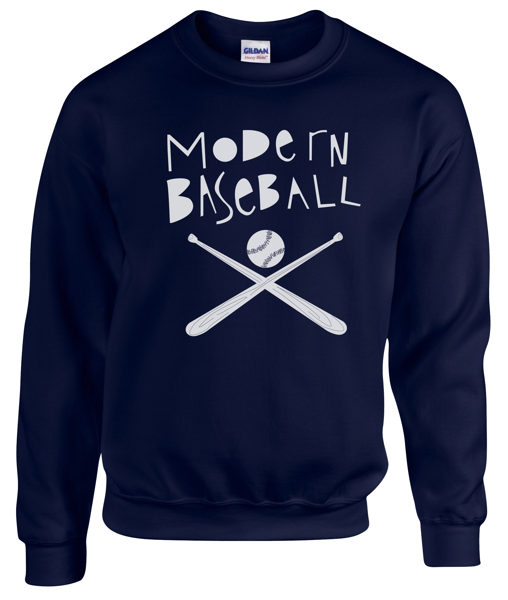 Modern Baseball - Baseball Bat Crewneck Sweatshirt - Navy