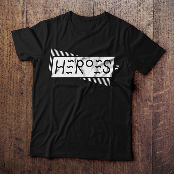 Heroes Black Tee (Unisex)