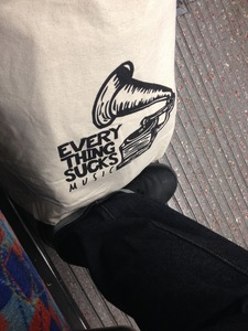 Everything Sucks Music Tote Bag