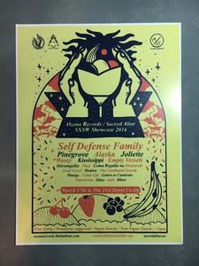 Ozona Records / Sacred Altar - SXSW 2016 Poster