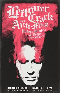 Leftover Crack / Anti-Flag 3.3.2016 POSTER
