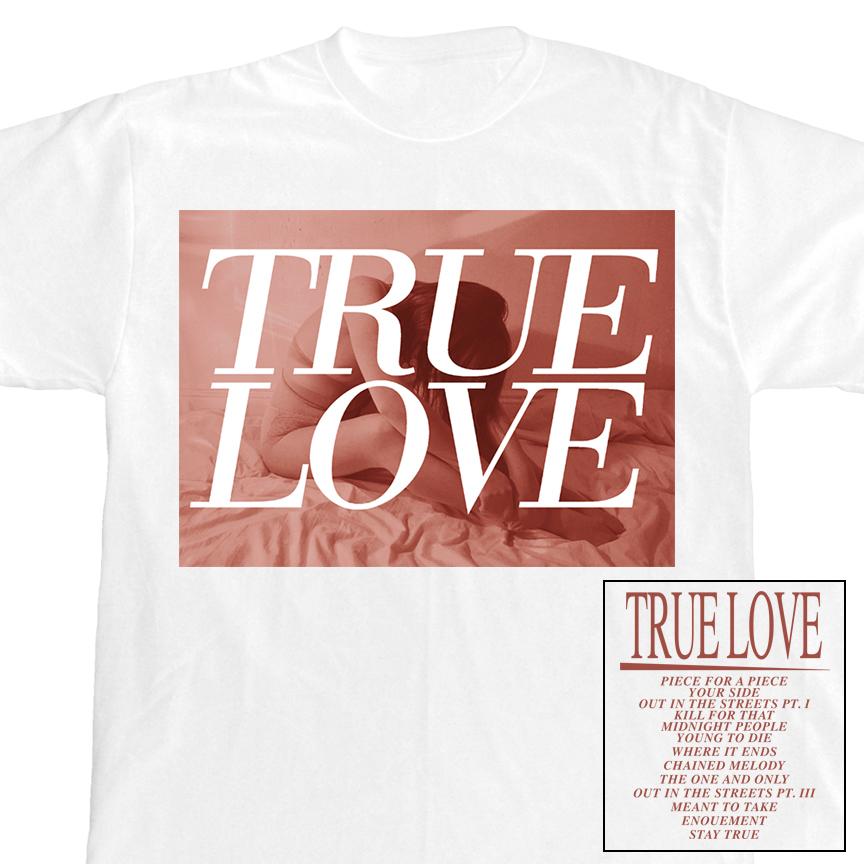 True love tracklisting t shirt