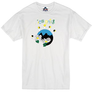 ICE GRILL$ - Flower Earth Shirt (White)