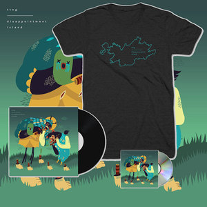 TTNG - Disappointment Island - CD/Vinyl + Outline T-Shirt Bundle