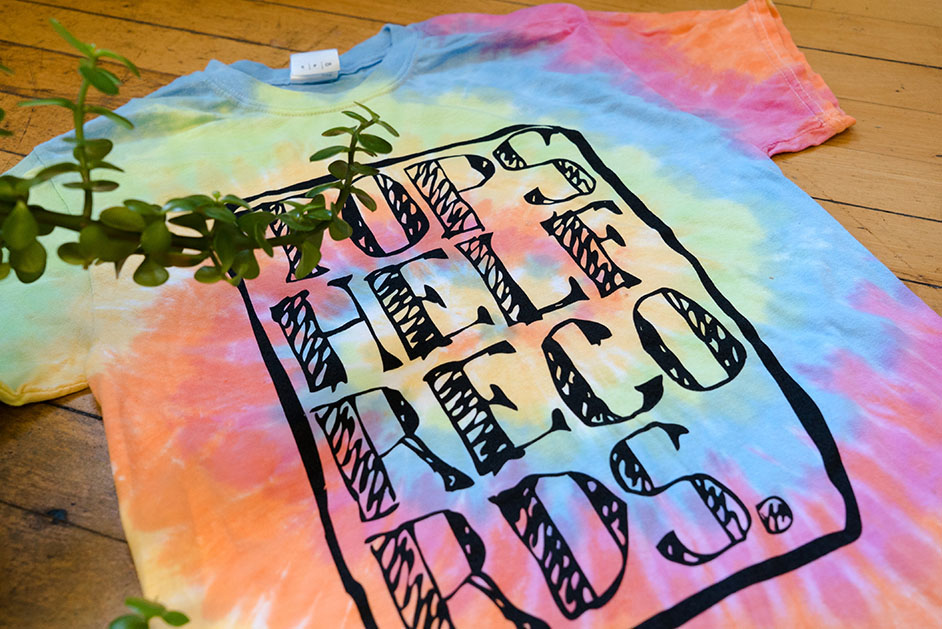 Topshelf Records Topshelf Records Tie Dye Logo T Shirt