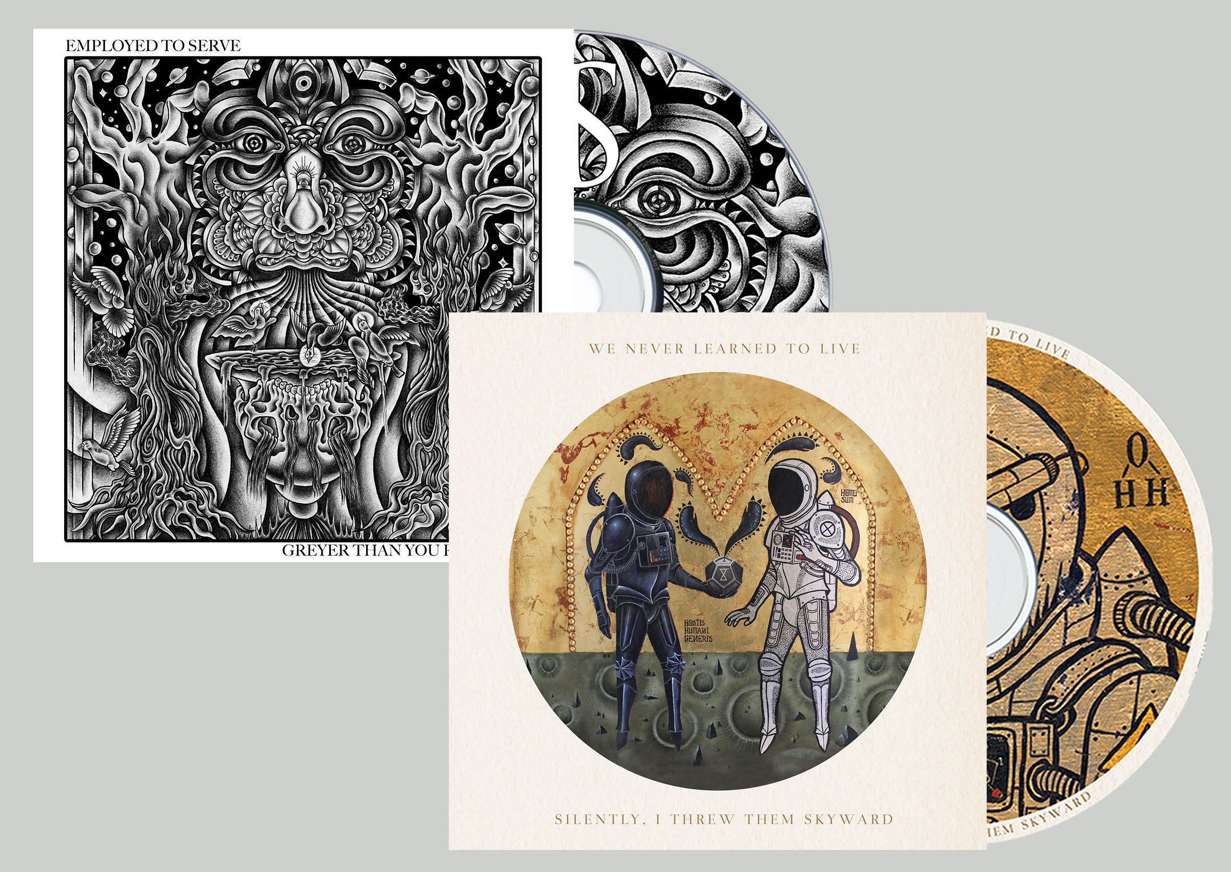 We Never Learned To Live ' Silently, I ...' + Employed To Serve 'Greyer Than...' CD bundle
