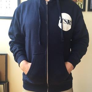 Topshelf Records - Navy Logo Zip Up Hoodie