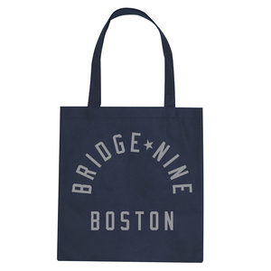 Bridge Nine 'Boston' Navy Tote Bag