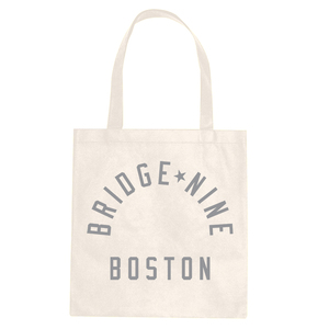 Bridge Nine 'Boston' White Tote Bag