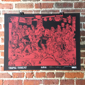 Triple Threat 'Into The Darkness' Screenprinted Poster
