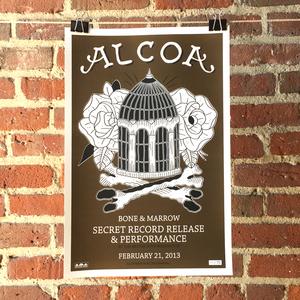 Alcoa 'Bone & Marrow Secret Release Show' Screenprinted Poster