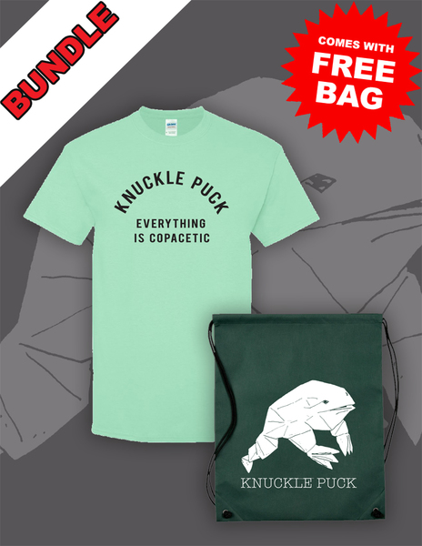 Everything is Copacetic Mint Tee + Drawstring Backpack