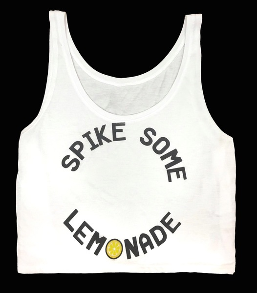 Spike Some Lemonade Cropped Tanks
