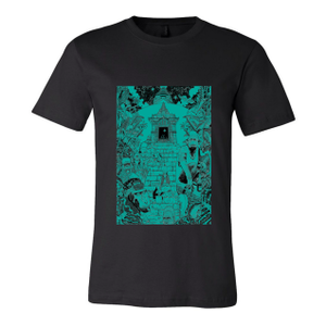 Monkey Temple - Womens Black Shirt