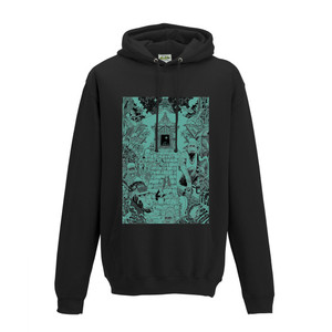 Monkey Temple Black Hoody