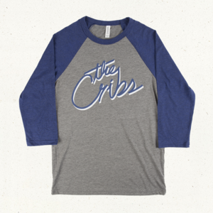 The Cribs Baseball T-Shirt - Heather Grey/Blue