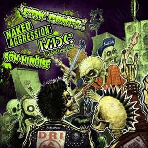 No More Borders: MDC/Som Hi Noise/Naked Aggression, Raw Power split 7