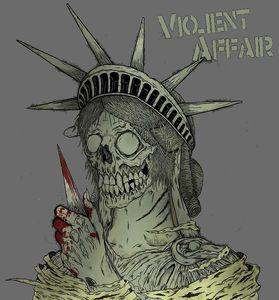 Violent Affair: Back patch/bum flap