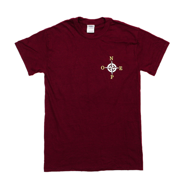 Dads - Burgundy Compass T-Shirt