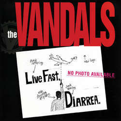 THE VANDALS Live Fast, Diarrhea. Colored Vinyl