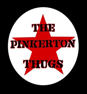 Pinkerton Thugs: Back patch/Bum flap: (One Left)