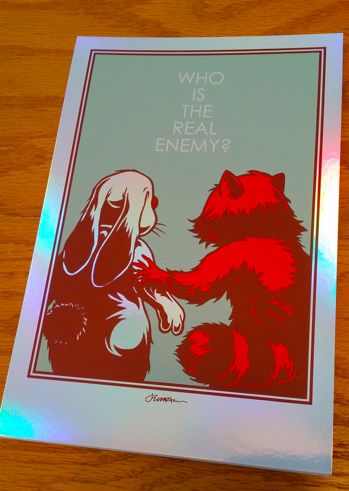 *New* 'Who Is The Real Enemy?' Mini Art Print (ALL VARIANTS)