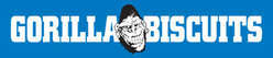 GORILLA BISCUITS Gorilla STICKER (Blue)