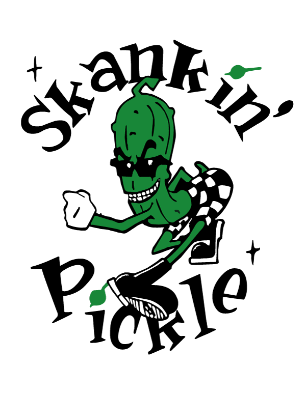 Asian man records skankin pickle sticker