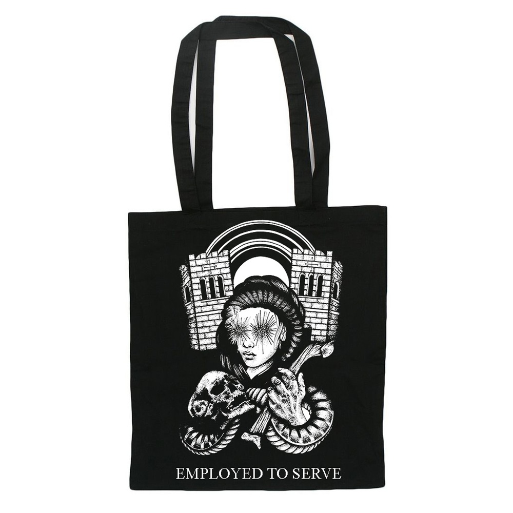 Employed To Serve tote bag