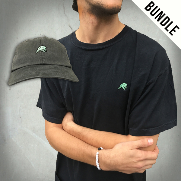 Embroidered Frog Tee + Hat