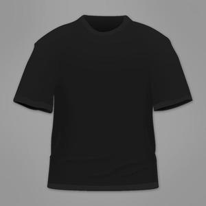 100 Custom printed shirts (Black)