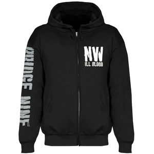 No Warning 'Ill Blood Stencil' Zip Up Hoodie Sweatshirt