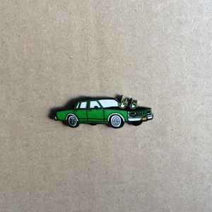 Corey Purvis - Burning Car Enamel Pin