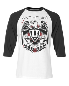 Anti-Flag - tattoo eagle baseball t-shirt