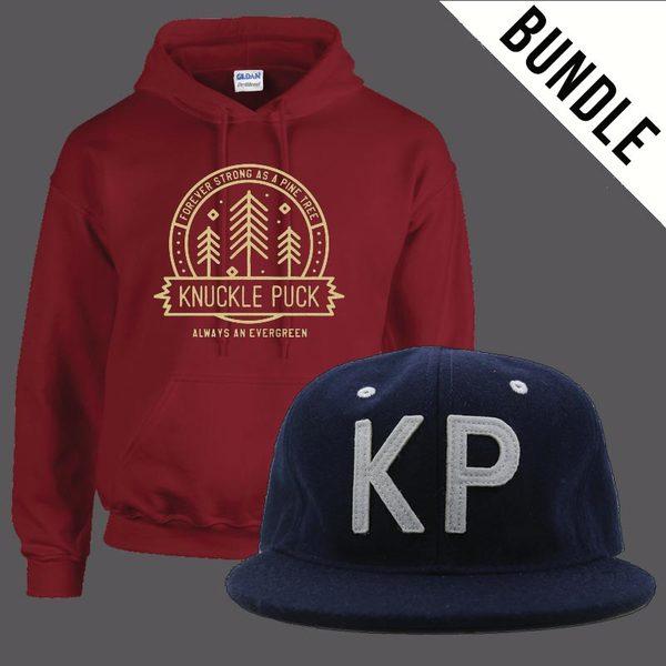 KP Hat + Evergreen Hoodie (Maroon)