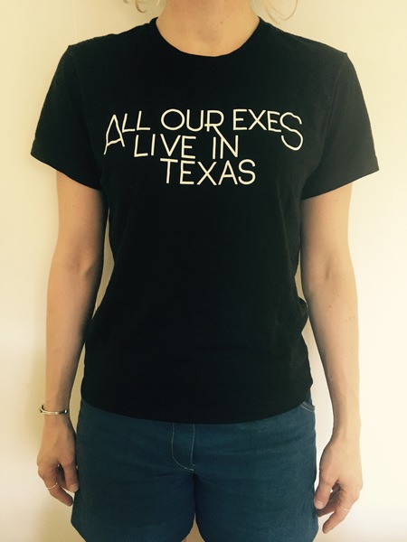 All Our Exes Live in Texas Black T-Shirt