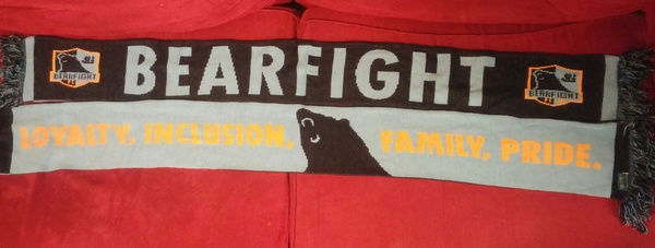 Bearfight FC Loyalty, Inclusion, Family, Pride Scarf