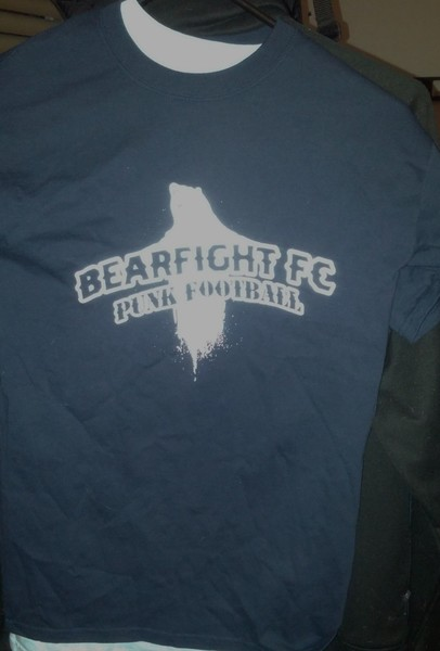 BFFC Punk Football tee shirt- dark blue