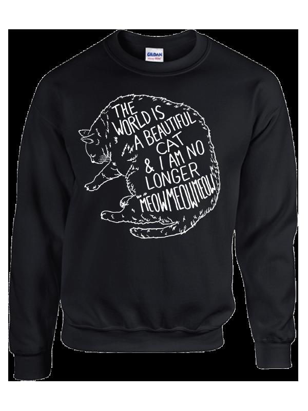 Cat Crewneck Sweatshirt