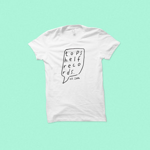 Topshelf Records - Hand Drawn Logo AFFORDABLE SHIRT (White)