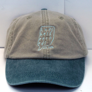 Topshelf Records - Stone/Forest Green Embroidered Logo Baseball Hat